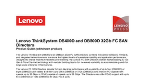Lenovo ThinkSystem DB400D Product Guide