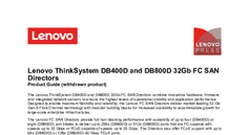 Lenovo ThinkSystem DB800D Product Guide