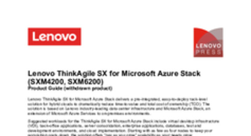 Lenovo ThinkAgile SX for Microsoft Azure Stack Product Guide