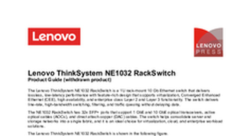 Lenovo ThinkSystem NE1032 Product Guide