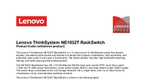 Lenovo ThinkSystem NE1032T Product Guide