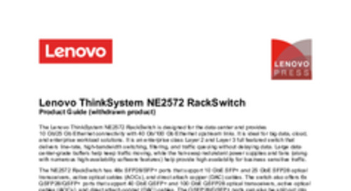 Lenovo ThinkSystem NE2572 Product Guide