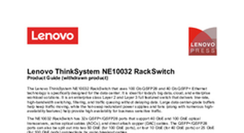 Lenovo ThinkSystem NE10032 Product Guide
