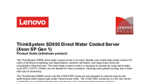 Lenovo ThinkSystem SD650 Product Guide
