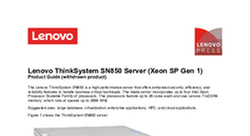 Lenovo ThinkSystem SN850 Product Guide