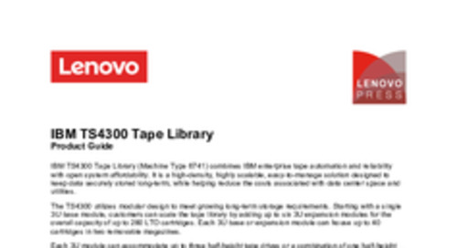 IBM TS4300 Tape Library for Lenovo