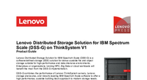 Lenovo Distributed Storage Solution Product Guide
