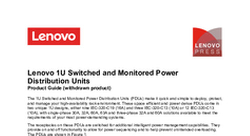 1U Switched and Monitored Power Distribution Units