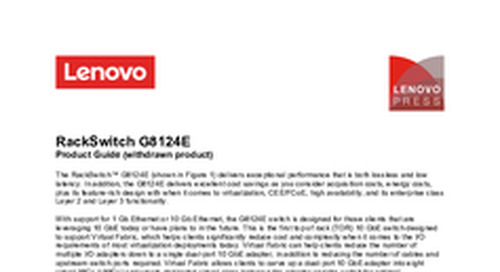 RackSwitch G8124E Product Guide