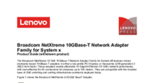 Broadcom NetXtreme 10GBase-T Network Adapter Family for System x