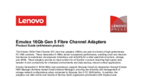 Emulex 16Gb Gen 5 Fibre Channel Adapters