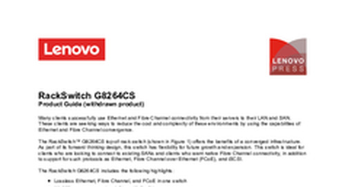 RackSwitch G8264CS Product Guide
