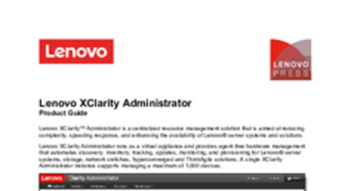 Lenovo XClarity Product Guide