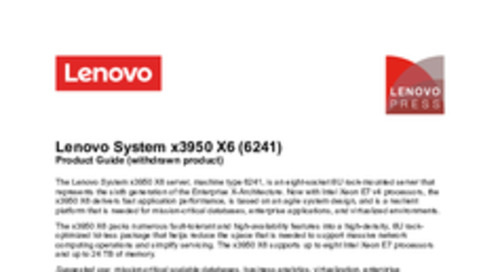 System x3950 X6 Product Guide