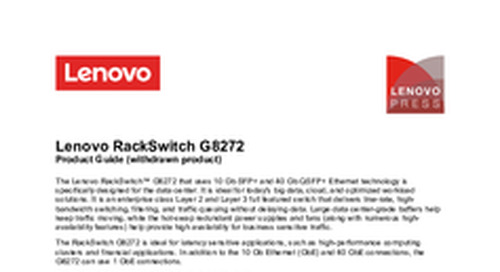 RackSwitch G8272 Product Guide