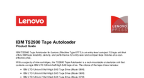 IBM TS2900 Tape Library for Lenovo