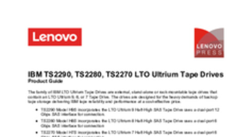 IBM LTO Ultrium 7, 6, and 5 Tape Drives for Lenovo