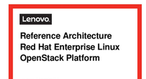 Lenovo Cloud RA for Red Hat OpenStack