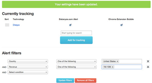 New Filters For Datanyze Alerts