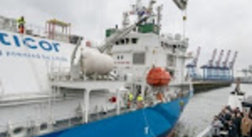 World's Largest LNG Bunkering Vessel Christened - The Maritime Executive