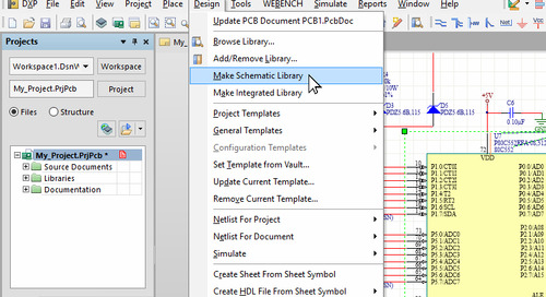 Creating Project Libraries from the Schematic