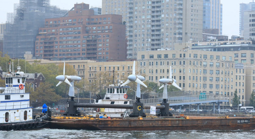 New Tidal Power Turbine Array Installed in New York's East River - The Maritime Executive
