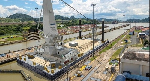 Damen Lays Keel for 75-meter Crane Barge for Panama Project - The Maritime Executive