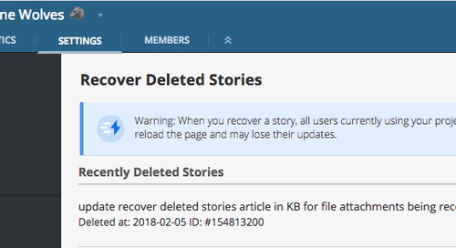 Recovering Deleted Stories