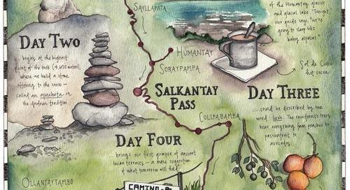 The Art of Trekking: Hand-drawn map of Salkantay