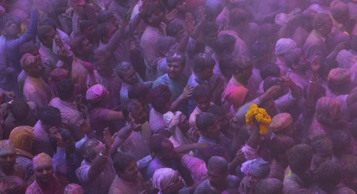 Celebrating Holi In Vrindavan, India