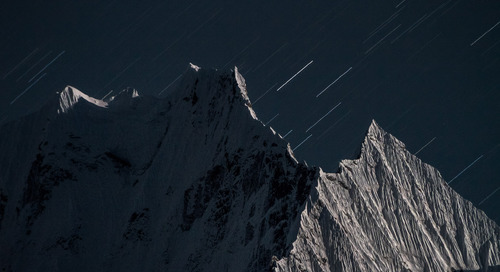 Night photography in the Himalayas