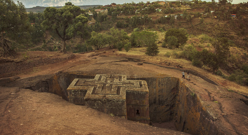 In Lalibela, the churches are underground