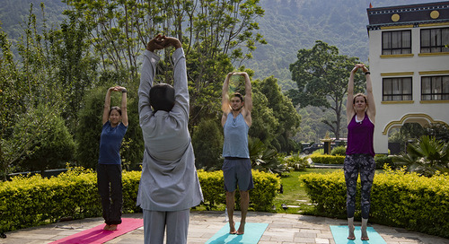 What's it like to do yoga at a monastery?