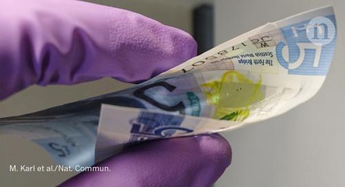 Tissue-thin lasers flex to hug curves