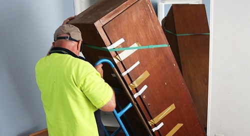 How to remove packing tape residue when unpacking after a move