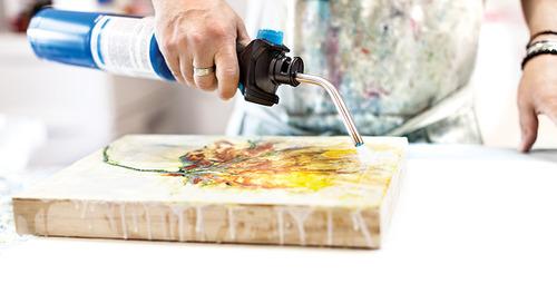 Jim Inzero Transforms Melted Wax into Stunning Art