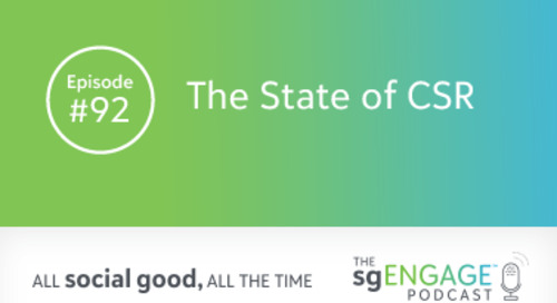 The sgENGAGE Podcast Episode 92: The State of CSR