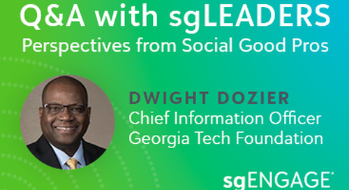 Q&A with sgLEADERS: Dwight Dozier, Georgia Tech Foundation