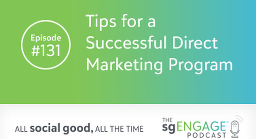 The sgENGAGE Podcast Episode 131: Tips for a Successful Direct Marketing Program