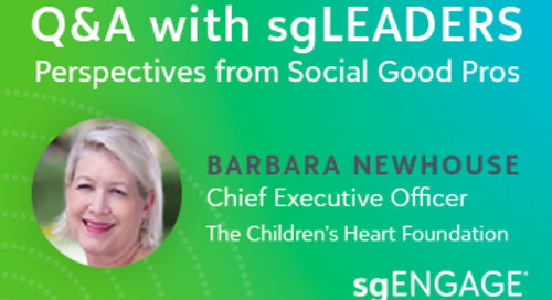Q&A with sgLEADERS: Barbara Newhouse, The Children's Heart Foundation