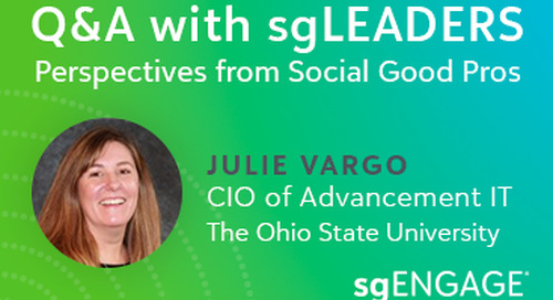 Q&A with sgLEADERS: Julie Vargo, The Ohio State University