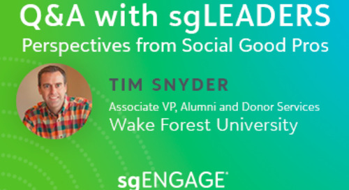 Q&A with sgLEADERS: Tim Snyder, Wake Forest University