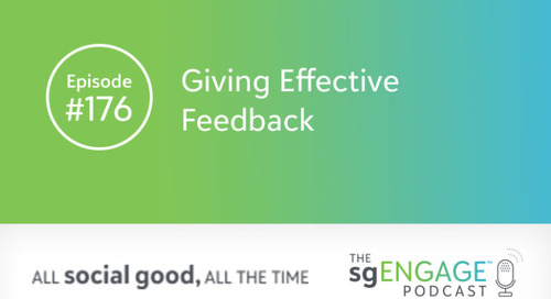 The sgENGAGE Podcast Episode 176: Giving Effective Feedback