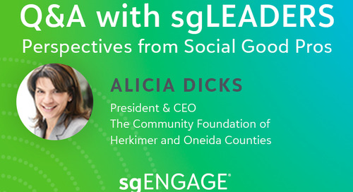 Q&A with sgLEADERS: Alicia Dicks, The Community Foundation of Herkimer and Oneida Counties