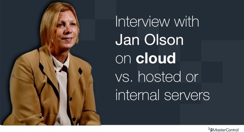 Jan Olson of EduQuest talks about MasterControl and Cloud vs hosted Systems