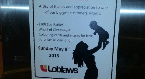 Creating #marketmoments for our customers on Mother's Day here at Loblaws Vanier Market!