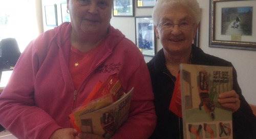 What a great morning @HansensYIG and our seniors loved their take home gifts #marketmoments https