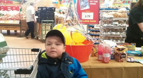 #marketmoments. Balloon pop and free giveaways at Corner Brook Dominion https