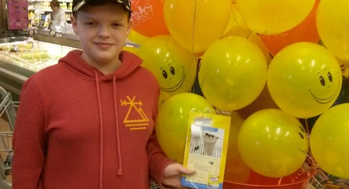 #marketmoments balloon pop a BIG hit today at Corner Brook Dominion can you say FREE free free https