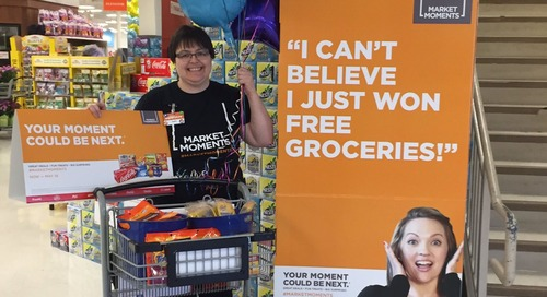Angela was on the hunt for customers to surprise w special moments. It could be you next. #marketmoments #rass379 https